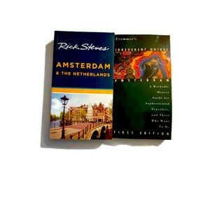 2 Amsterdam travel guides. Rick Stevens & Frommers